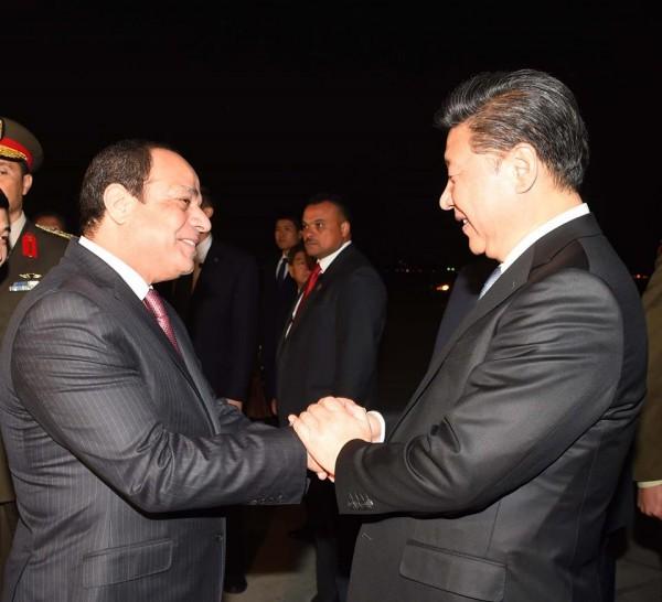 الرئيس المصري والصيني