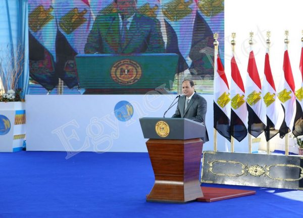 السيسي يفتتح مشروع المليون ونصف فدان