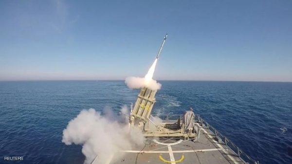 A screen-shot taken from Israel Defence Forces (IDF) handout video footage received on May 18, 2016, shows a test-firing of a version of Israel's Iron Dome missile interceptor that can be fired from the deck of a cruising navy ship, in Israel's territorial waters. Courtesy of IDF Spokesperson Unit/Handout via REUTERS. ATTENTION EDITORS - THIS IMAGE WAS PROVIDED BY A THIRD PARTY. EDITORIAL USE ONLY. NO RESALES. NO ARCHIVE.