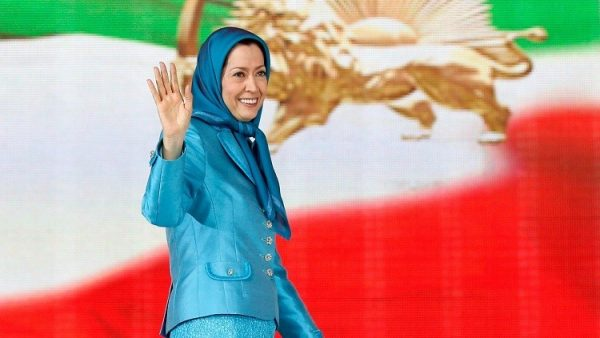 مريم رجوي علم ايران