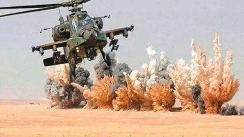 الجيش ضربات جوية للارهاب