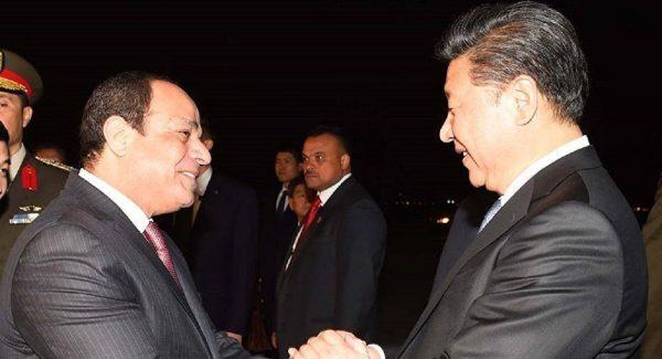 الرئيس السيسي والرئيس الصيني