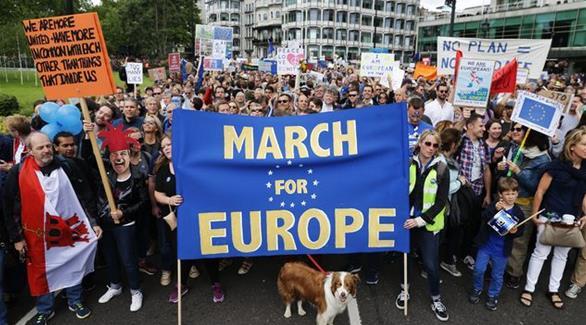 تظاهر البريطانيين