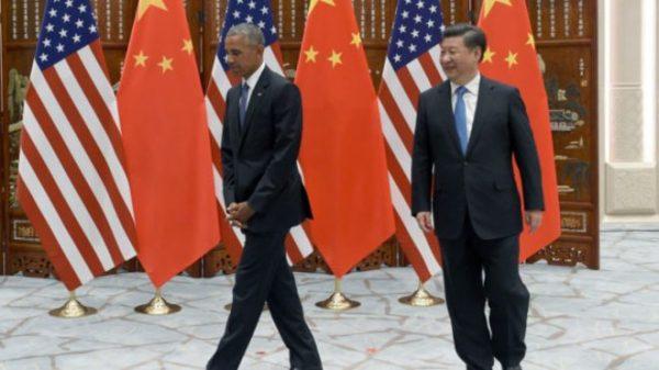 وصول الرئيس أوباما إلى الصين