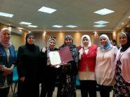 تكريم أول مأذونة شرعية بالمجلس القومي للمرأة بقنا